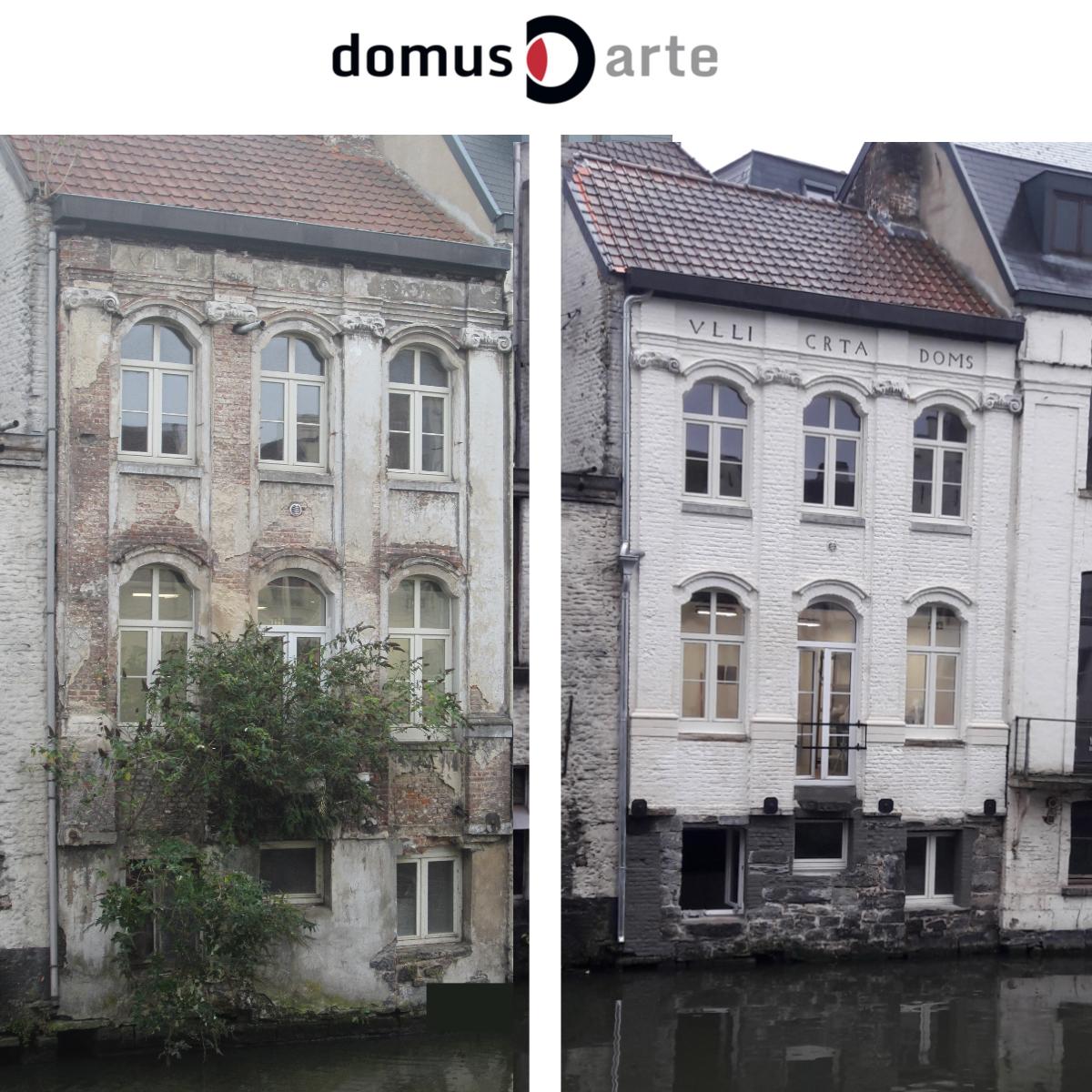 Huis aan waterkant voor en na